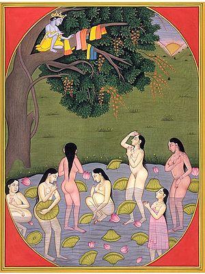 Krishna Stealing Clothes