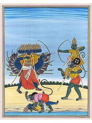 Lord Rama Killing Ravana