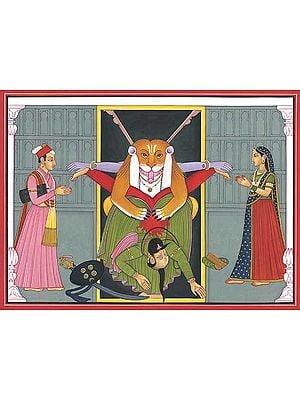 Narasimha Killing Hiranyakasyapu