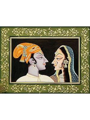 Portrait of Radha Krishna (Kishangarh Style)