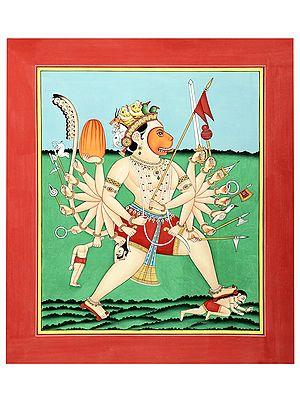 Vinshabhujadhari Hanuman With Tantric Aspects