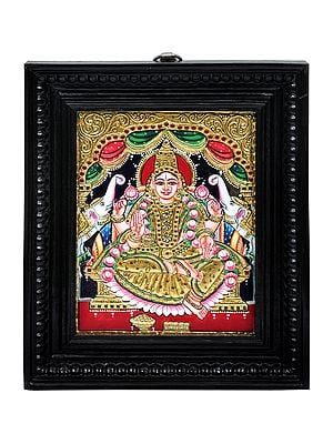 """10"""" x 12"""" Gajalakshmi Tanjore Painting 