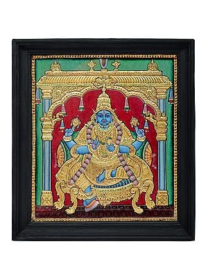 """16"""" x 18"""" Dhanvantari Tanjore Painting 