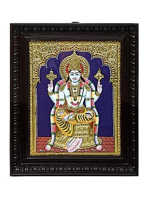"""15"""" x 18"""" Dhanvantari Tanjore Painting 