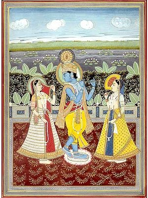 Radha Krishna with Companion
