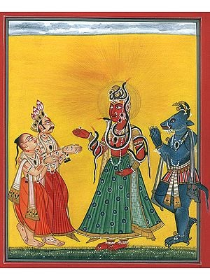 Bhadrakali Worshipped By Both Dharm And Adharm, The Mortal And The Immortal (Tantric Devi Series)