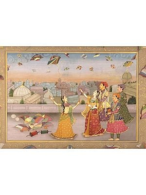 The Begum of Oudh Flying a Kite