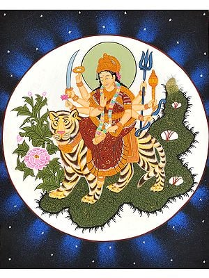 Goddess Durga Riding on Lion