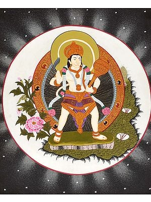 Lord Hanuman Within The Moon