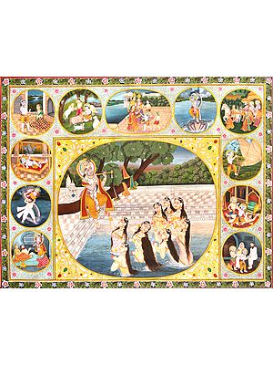 Krishna Stealing Clothes of Gopis and Other Episodes