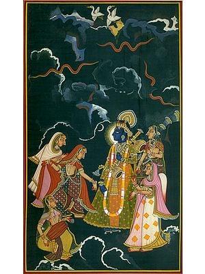 Raga Megha: A Ragamala Folio