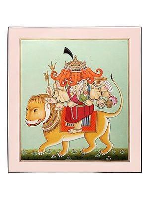 Simhavahana Lord Heramba