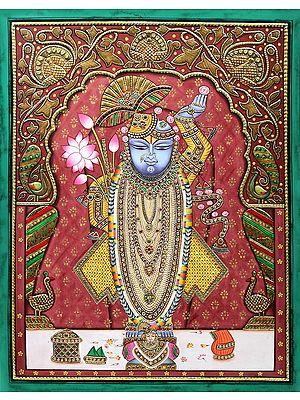 Jewelled Lord Shrinath having A Rich Aura