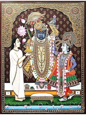 Divinne Lord Shrinath with Yamuna Ji