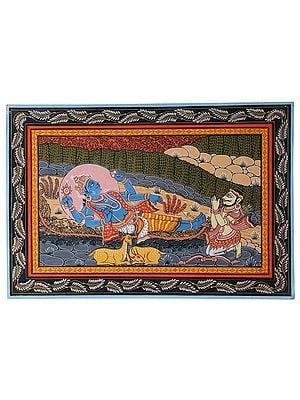 Lord Krishna's Last Moment on Earth