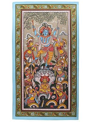 Krishna Dancing on Serpent Kaliya