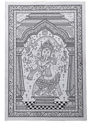 Ashtabhujadhari Dancing Ganesha