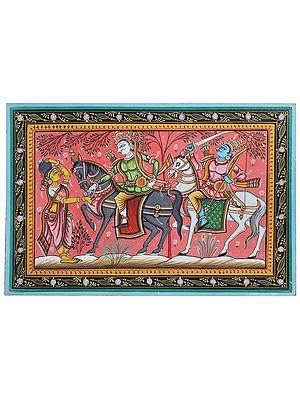 Lord Jagannath Giving Gold Ring to Manik Gouduni (The Milk Maid) - Kanchi Abhijaan Story