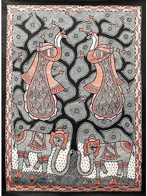 Peacocks and Elephants in Harmony