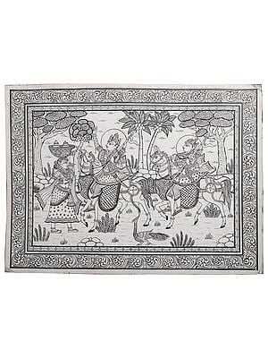 Lord Jagannatha's Ring as a Blessing for Puri Gajapati's Expedition (Kanchi Abhijan)
