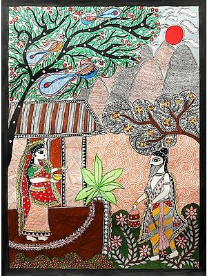 Ravana Disguised As A Hermit And Asked For Alms  From Sita (Sita Haran Episode From Ramayana)
