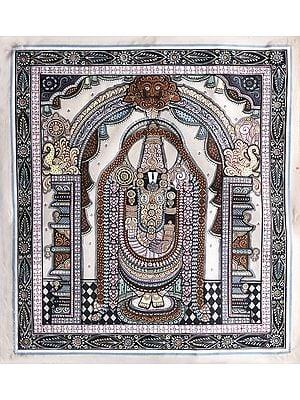 Lord Venkateshwara Arched on A Kirtimukha Prabhavali