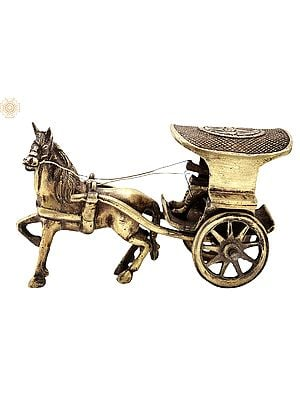 """3.5"""" Vintage Horse Cart 