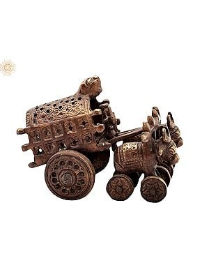 """3.5"""" Vintage Bull Cart 