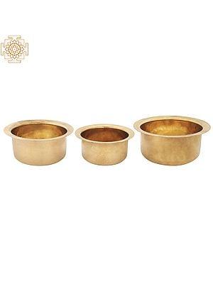 Brass Hub Tope | Bhagona | Patila Set Of 3 | Made In India