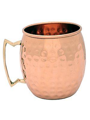 "4"" Dimple Pure Copper Mug | Copper Mug | Handmade | Made In India"