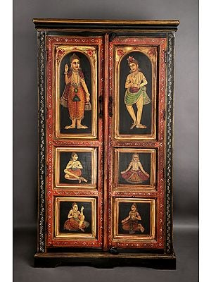 """60"""" Antique Traditional Wooden Cabinet 