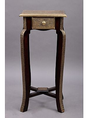 """23"""" Wooden Stool with Drawer