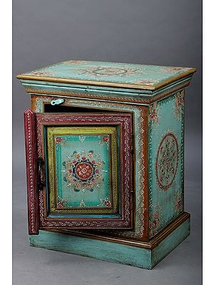 """24"""" Decorative Hand Painted Wooden Table with Drawer 