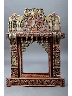 "26"" Hand Painted Camel Jharokha (Window)   Wood Jharokha   Handmade Art   Made In India"