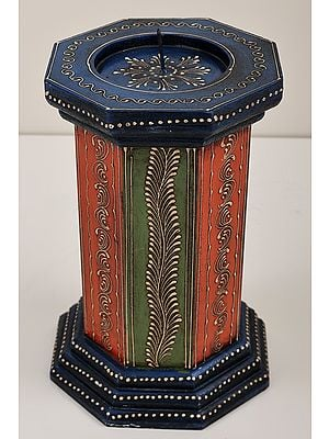 """9"""" Decorative Colorfull Candle Stand 