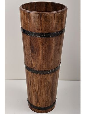 """21"""" Round Wooden Planters  