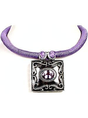 Amethyst Necklace with Matching Cord