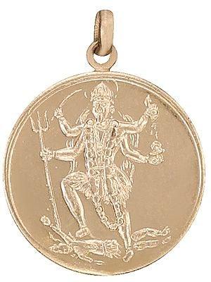 Goddess Mahakali Pendant with Mahakali Yantra on Reverse