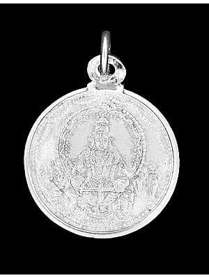 Ayyappan Pendant with Ganesha and Karttikeya with Ganesha on Reverse Side (Two Sided Pendant)