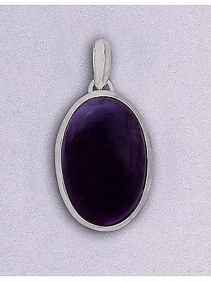 Sterling Silver Pendant with Amethyst Stone