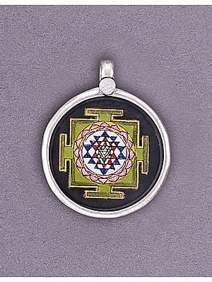 Sterling Silver Pendant with Yantra