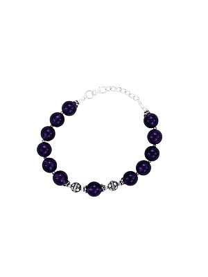 Sterling Silver Bracelet with Amethyst Stone