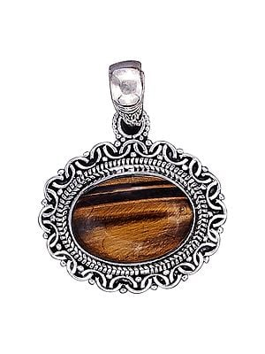 Sterling Silver Pendant with Tiger Eye Stone