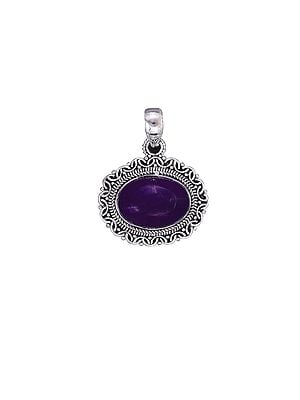 Sterling Silver Pendant with Amethyst Gemstone