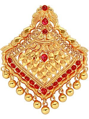 Peacock Pendant (South Indian Temple Jewelery)