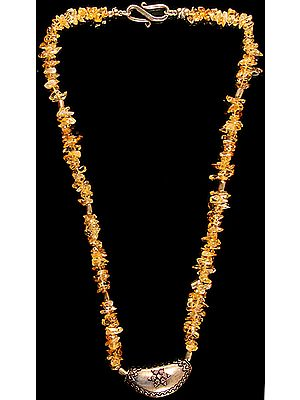 Citrine Chips Beaded Necklace