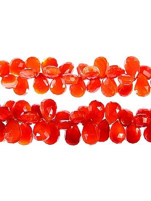 Faceted Carnelian Briolette