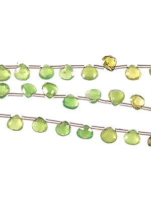 Faceted Green Tourmaline Briolette