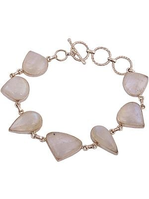 Pear-Cut and Trillion Rainbow Moonstone Bracelet
