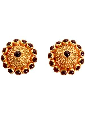 Stud Earrings (South Indian Temple Jewelry)